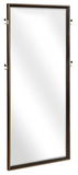 The Loquin Floor mirror is striking and timeless.  The dark wood tones accented by brass makes this mirror a classic.  Great for a bedroom or any space where reflective spaces are needed.