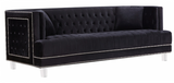 The Mauldin Modern Sofa Collection will take your home or office from ordinary to extraordinary. The nailhead trim, tufting, and acrylic legs come together to make the Mauldin collection a must have. This collection comes in four colors to better suit your design taste. Features beautifully tufted velvet upholstery with a custom nail head design and clear acrylic legs. This collection is guaranteed to be the highlight of any home.