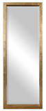 "The Treton Wall or Floor Mirror is perfect to use as a dressing mirror or just for accent. This stately mirror features a deep, solid wood frame with a lightly antiqued gold leaf finish. Mirror has a generous 1 1/4"" bevel. May be hung horizontal or vertical."