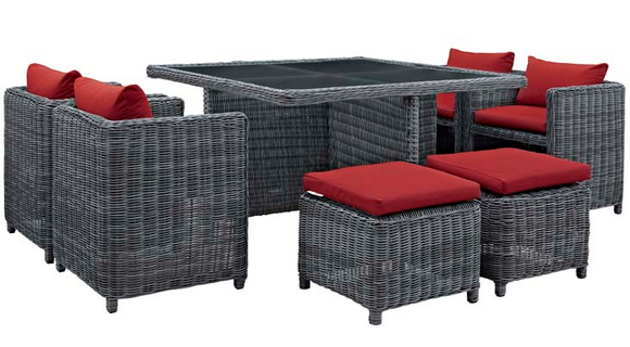 Iverson 9 Piece Outdoor Dining Set
