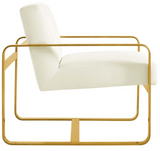 Brasso Accent Chair Ivory