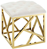 Angular Modern Ottoman Black and Gold