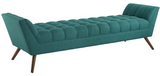 Embrace leisure time with the artfully designed Beakon bench. Exquisitely crafted with a tufted seat, gently sloping arms, and adorable design, Beakon comes well-loved for all the right reasons. Dense foam padding ensures comfort