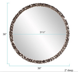 Crumple Round Wall Mirror