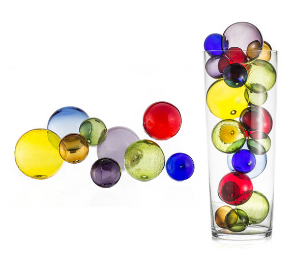 Vibrant Wall Orb Glass Art