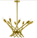Structure Brass Pendant Light