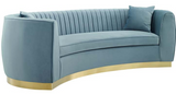 The Shell III Curved Channel Modern Sofa