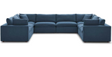 Plush Sectional Sofa Pit