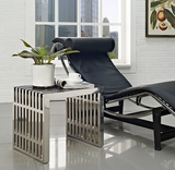 Astrid II Modern Stainless Steel Bench Small
