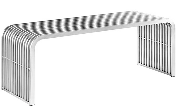 Piper Modern Stainless Steel Bench
