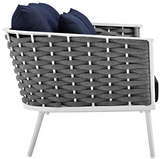 Lace Outdoor Aluminium Frame Love Seat