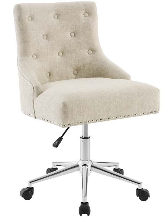 Astute Upholstered Desk Chair Beige
