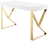 Walder Modern Desk Gold