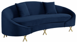 Shelton Modern Sofa Navy Blue