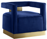 Boxy Modern Chair Blue