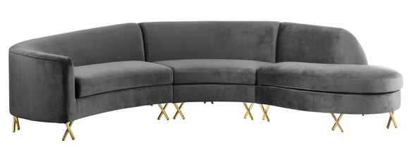 S Curve Modern Sectional