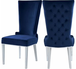 LaFlare Dining Chair S/2 Blue Navy