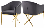 Cavali Dining Chair Gold Black