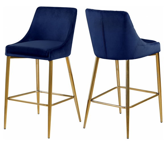 Capelli Counter Stool Gold S/2 blue