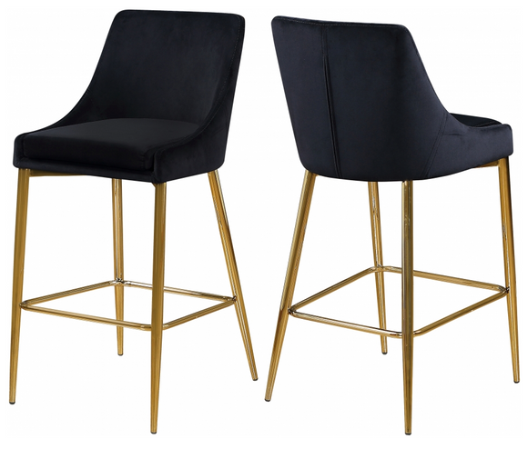 Capelli Counter Stool Gold S/2 Black