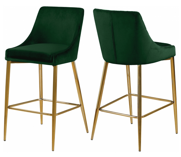 Capelli Counter Stool Gold S/2 Green