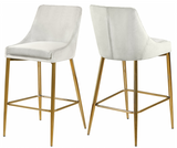 Capelli Counter Stool Gold S/2 Blush