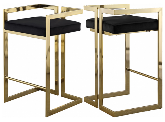 Givency Modern Counter Stool Black/Gold