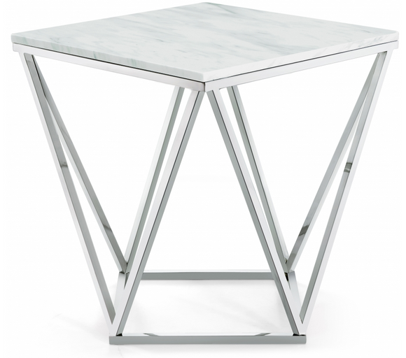 Felton End/Side Table Chrome