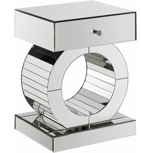 Orion Modern Mirrored Side/End Table