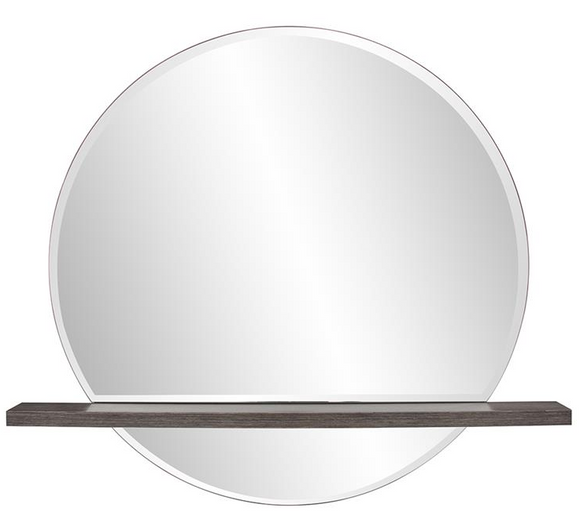 Float Mirror With Shelf