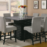 modern counter height table, contemporary counter height table, square dining table counter height