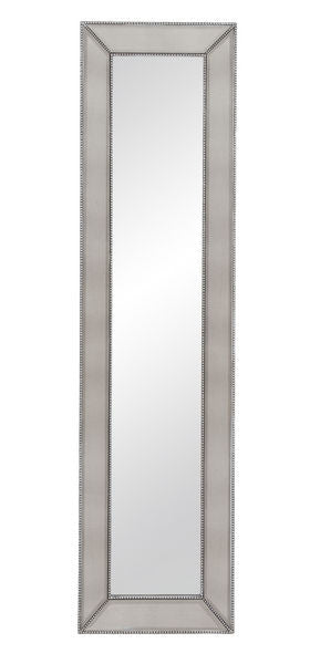 Tall Drink of Glam Mirror slender mirror with silver leaf finish