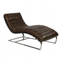 Washington Vintage leather Chaise
