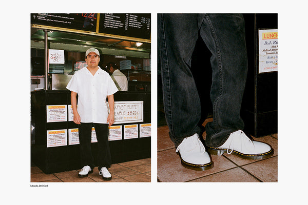 Preview | A Workwear-Inspired Collaboration from Dr. Martens X Engineered Garments