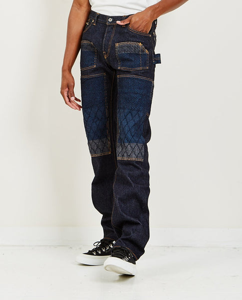 GRAPH ZERO 16oz Double Knee Pant Indigo