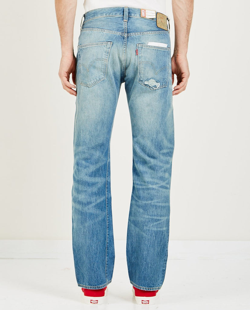 LEVI'S VINTAGE CLOTHING-1947 501 JEANS TEAR UP-Men Straight-{option1]