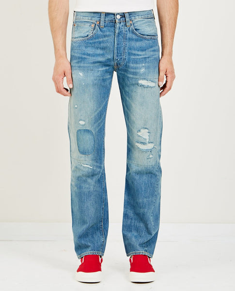LEVI'S VINTAGE CLOTHING 1947 501 JEANS TEAR UP