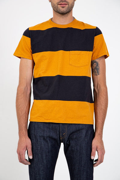 LEVI'S VINTAGE CLOTHING 1960'S STRIPED TEE GOLD & BLACK