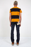 LEVI'S VINTAGE CLOTHING-1960'S Striped Tee Gold & Black-Men Tees + Tanks-{option1]