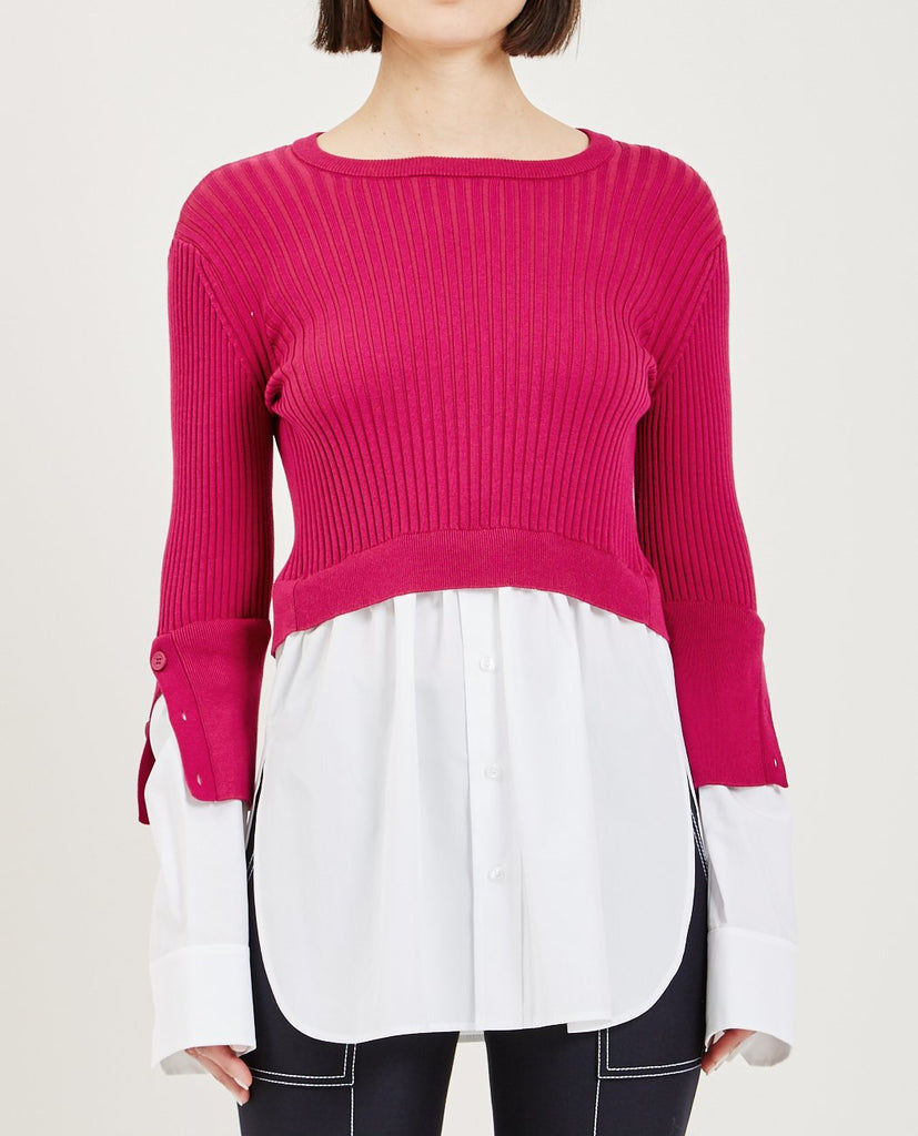 2 IN 1 MIXED KNIT TOP-KENZO-American Rag Cie
