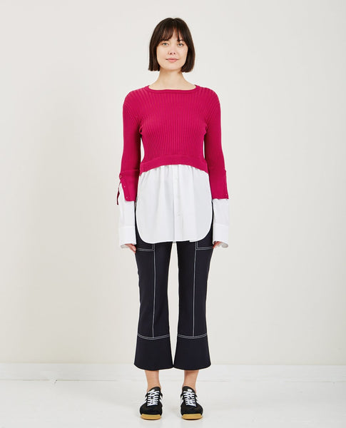 KENZO 2 IN 1 MIXED KNIT TOP