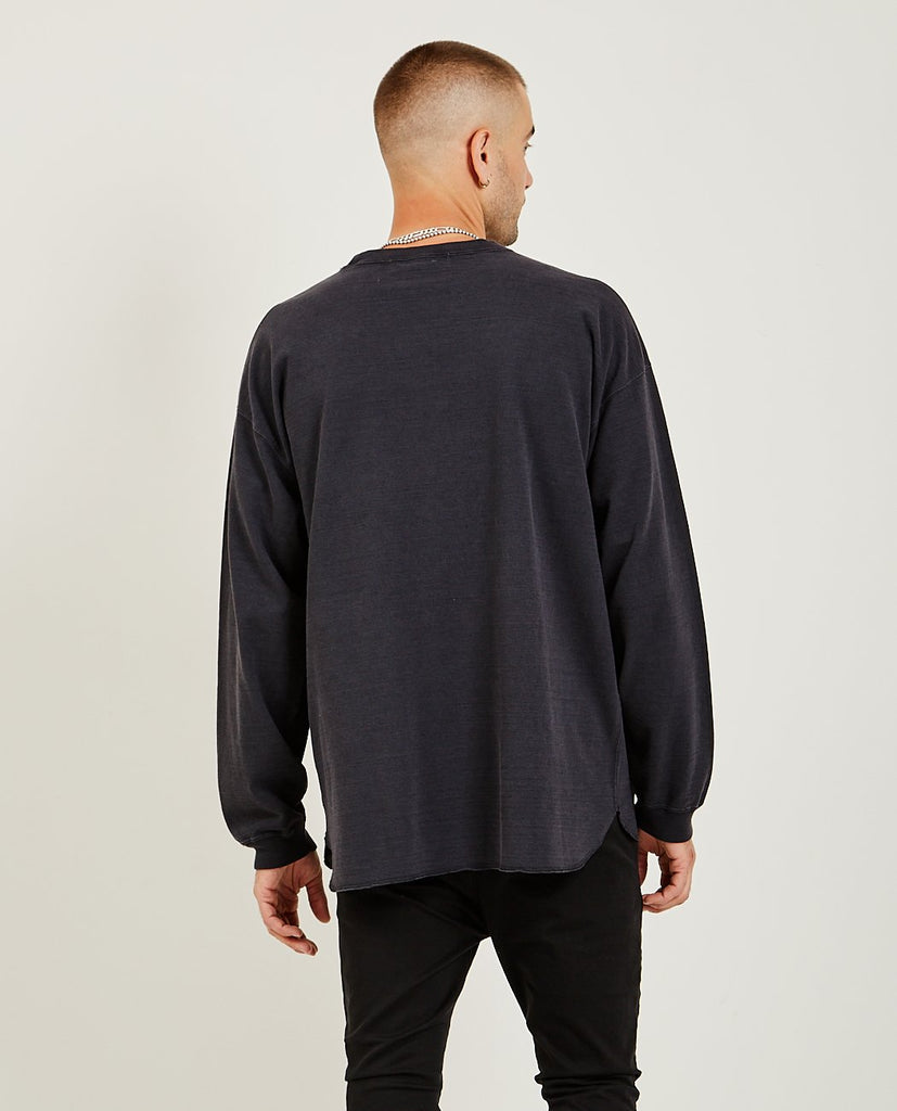 REMI RELIEF-20/2 Long Sleeve Tee Black-Men Tees + Tanks-{option1]