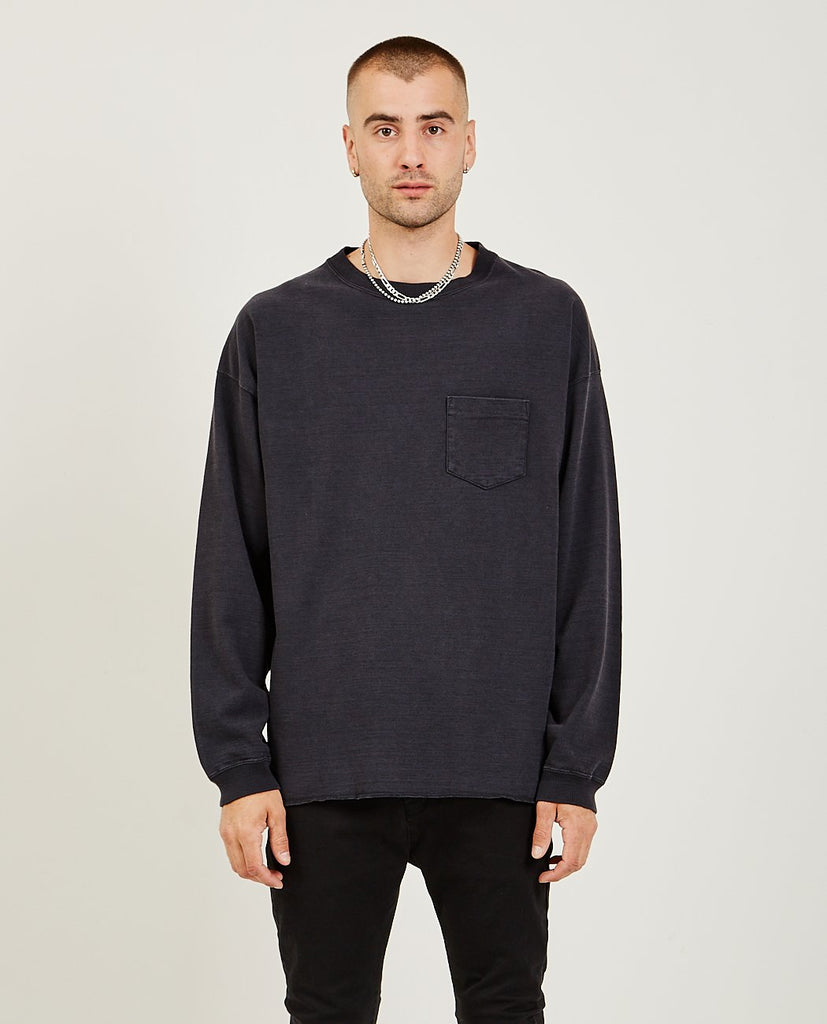 REMI RELIEF 20/2 Long Sleeve Tee Black