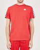 KAPPA-222 BANDA CHARLTON T-SHIRT RED & BLACK-Men Tees + Tanks-{option1]
