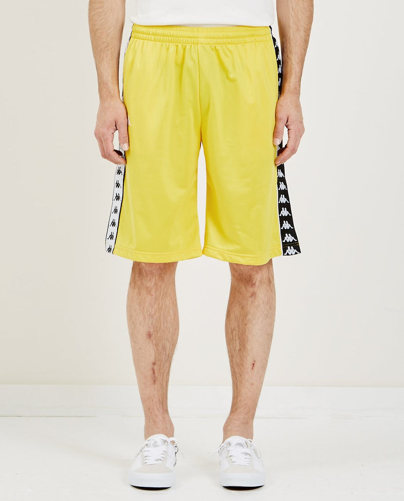 KAPPA-222 BANDA TREADWELL SHORTS YELLOW & BLACK-Men Shorts-{option1]