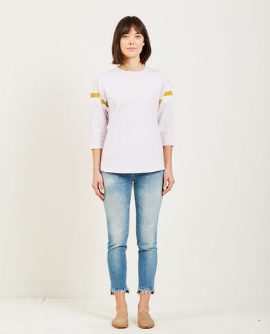 STATESIDE LINEN JERSEY BABY TEE HEATHER GREY