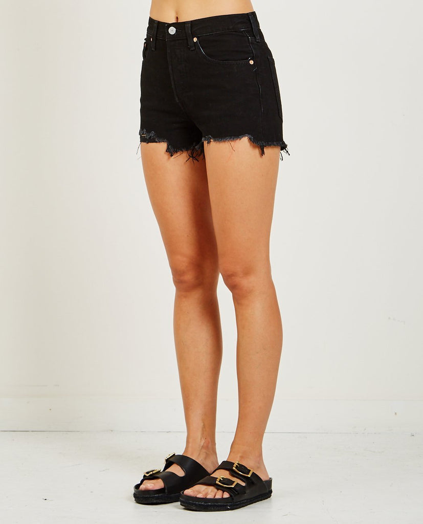LEVI'S-501 HIGH RISE WATER<LESS SHORT IN DARKEST HOUR-Women Shorts-{option1]