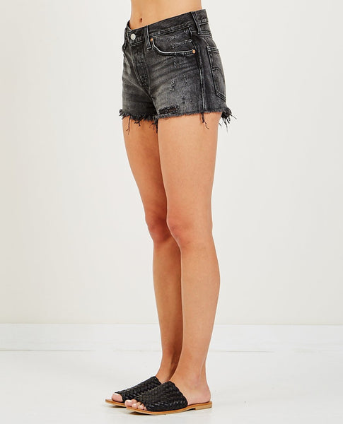 LEVI'S 501 SHORT TRASHED BLACK