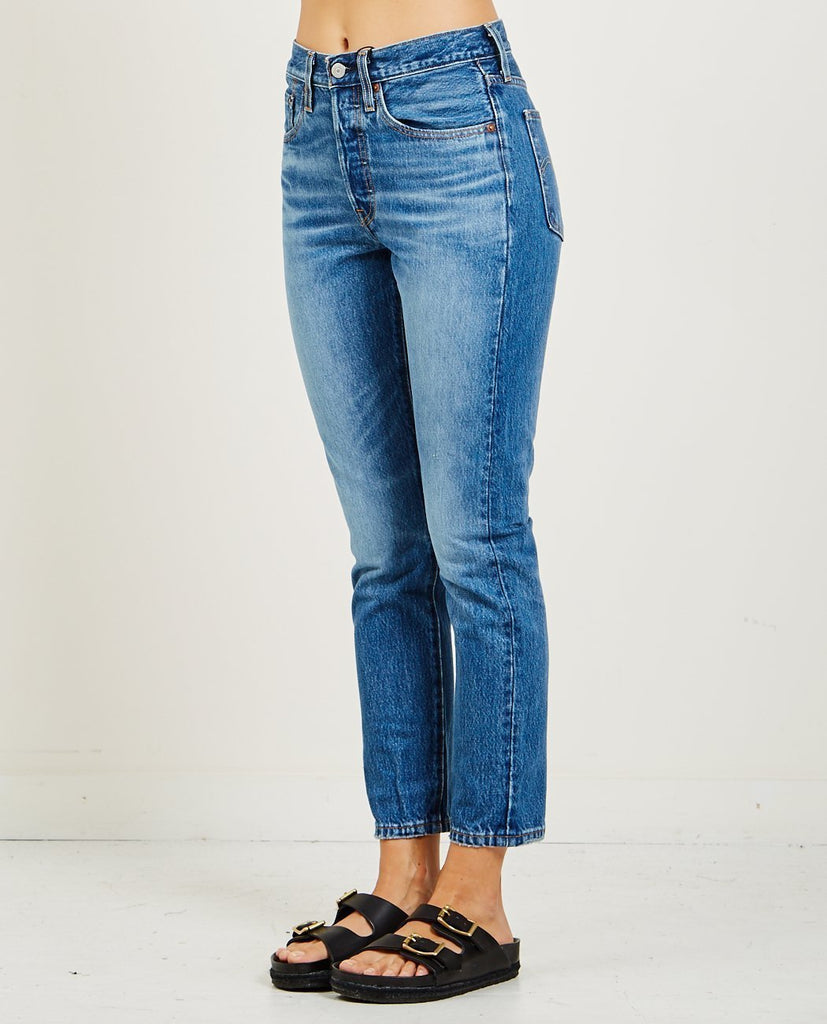 LEVI'S-501 SKINNY JEANS IN CHILL PILL-Women Skinny-{option1]