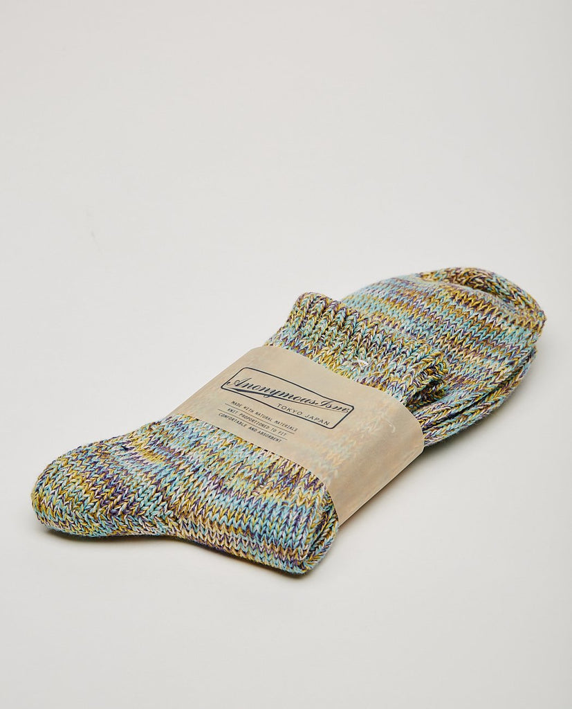 ANONYMOUS ISM-5OOL MIX Q CREW SOCK-Men Socks-{option1]